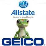 Allstate and Geico logos